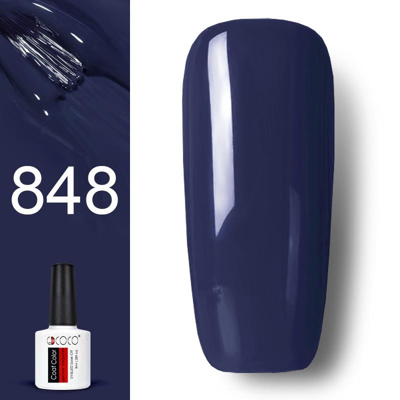 Гель лак GDCOCO 8мл. 848 сине-серый