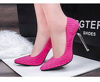 Туфли с заклепками  каблук 10 см  6 цветов, фото 1
