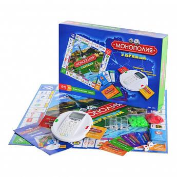 Настольная игра Монополия терминал,кредитн карты,фишки,на бат-ке,в кор-ке,40-27-7см