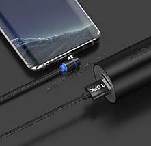 Магнитный кабель USB Type-C Topk для зарядки телефона (Черный, 1м), фото 2