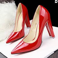 Лакированные туфли толстый каблук 10 см  6 цветов, фото 1