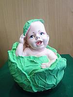 Подарок на рождение ребёнка - Копилка Малыш в капусте, фото 1