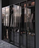 Шкаф Гардеробная комната на заказ с фасадами стекло V559