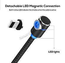 Магнитный кабель Lightning Topk для зарядки iPhone/iPad/iPod (Черный, 1м), фото 3