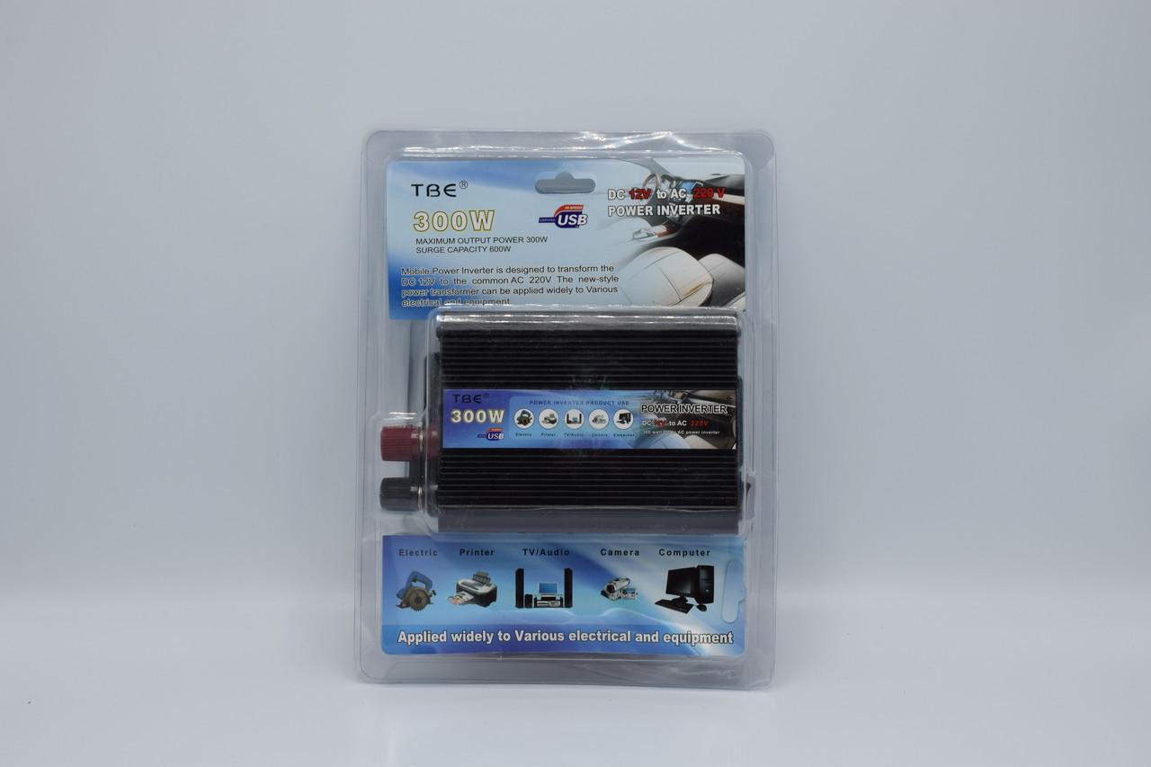 Автомобильный инвертор TBE 12-220V / 300W автомобильный преобразователь TBE 12-220V / 300W