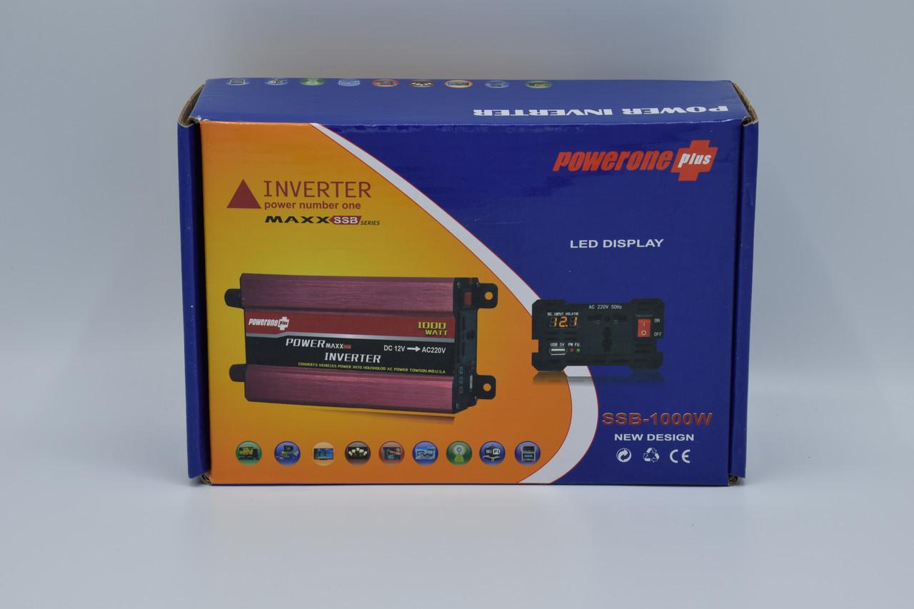 Автомобильный инвертор Powerone+ 12-220V / 1000W автомобильный преобразователь Powerone+ 12-220V / 1000W