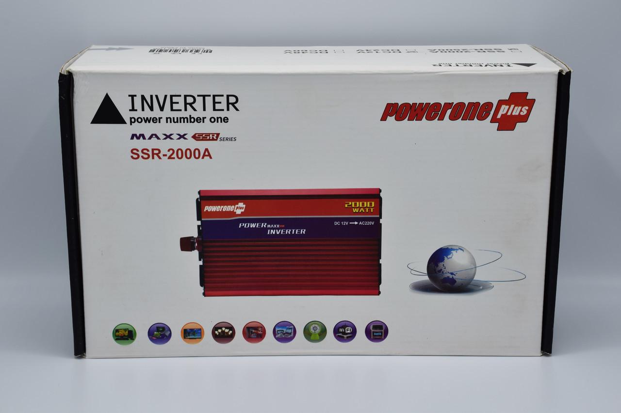 Автомобильный инвертор Powerone+ 12-220V / 2500W автомобильный преобразователь Powerone+ 12-220V / 2500W