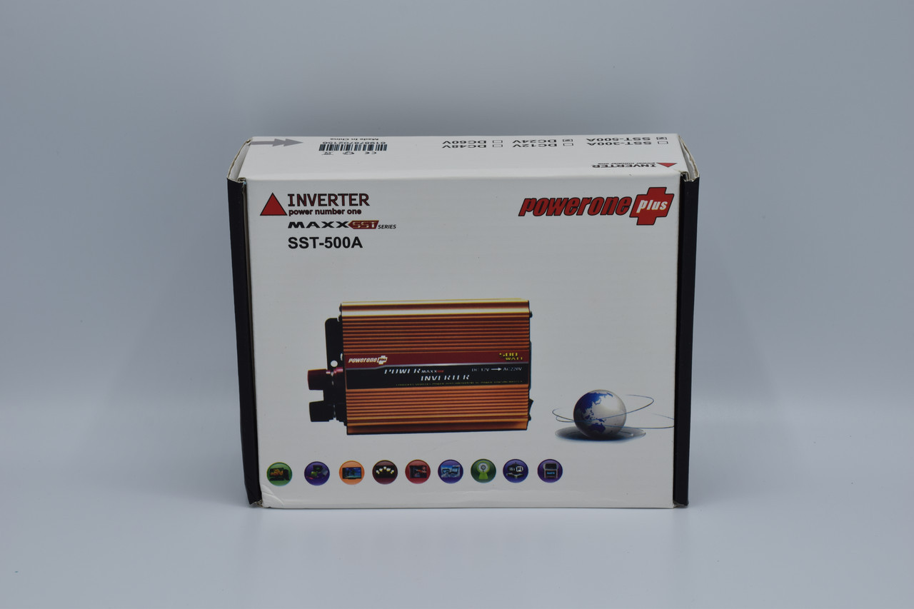Автомобильный инвертор Powerone+ 24-220V / 500W автомобильный преобразователь Powerone+ 24-220V / 500W