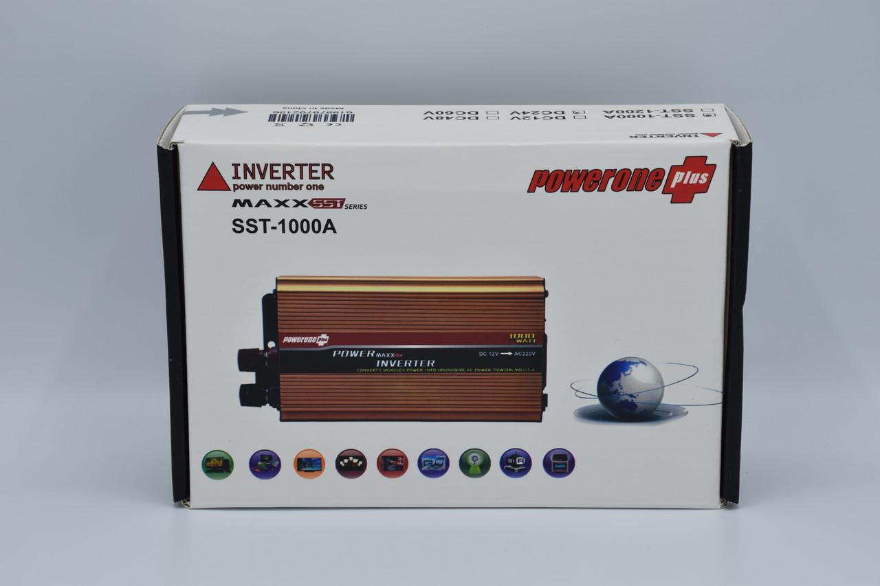 Автомобильный инвертор Powerone+ 24-220V / 1000W автомобильный преобразователь Powerone+ 24-220V / 1000W