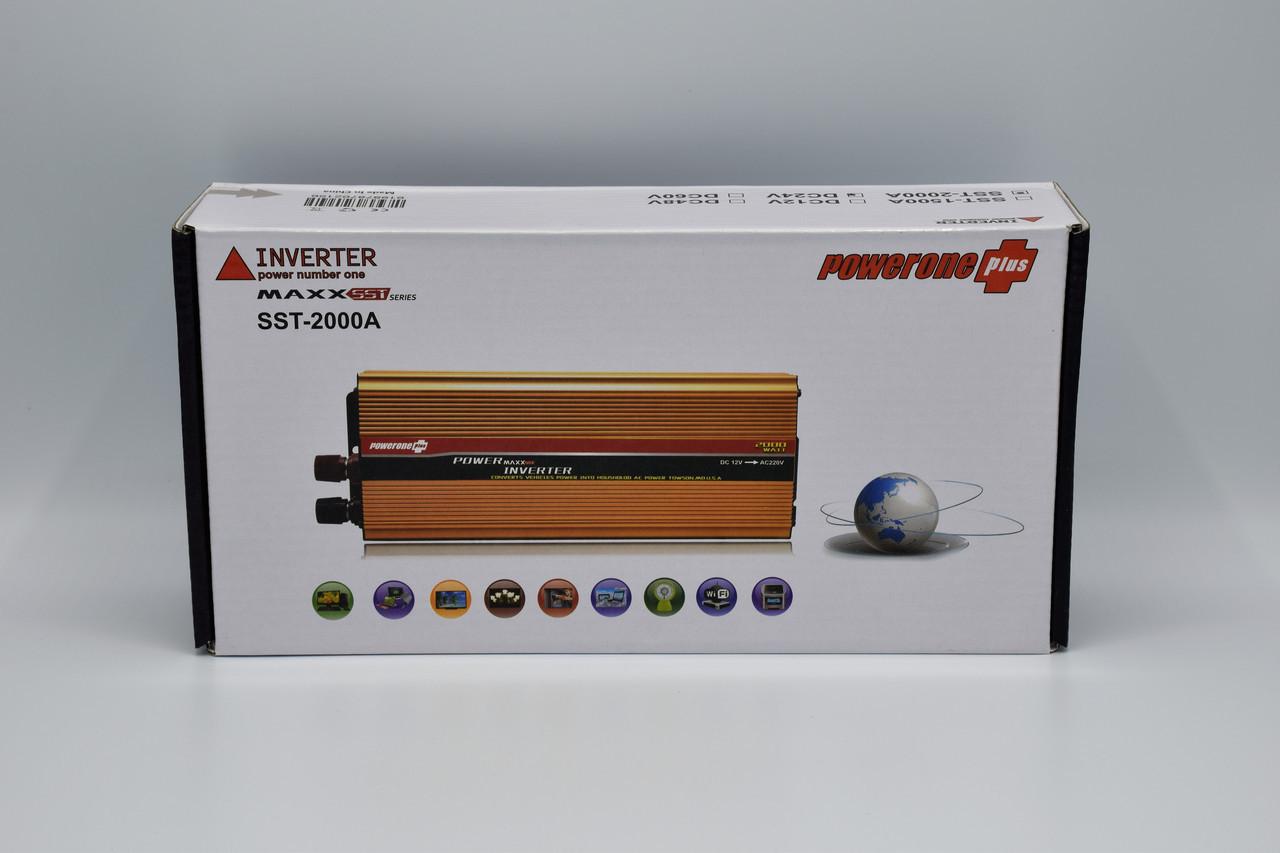 Автомобильный инвертор Powerone+ 24-220V / 2000W автомобильный преобразователь Powerone+ 24-220V / 2000W