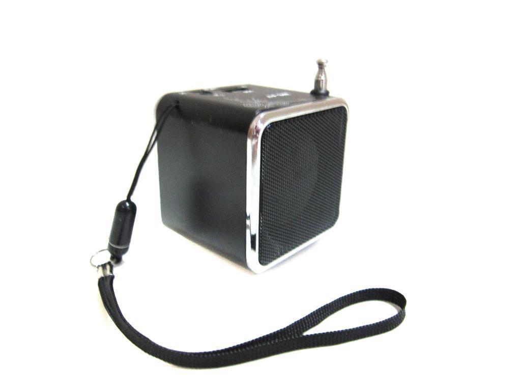Міні портативна MP3 колонка від USB FM WS-A7 Black