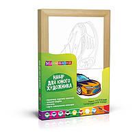 """Раскраска по номерам """"Рисовалка"""" №1 """"Машина"""" РОСА /N0000101/, 20*30см"""