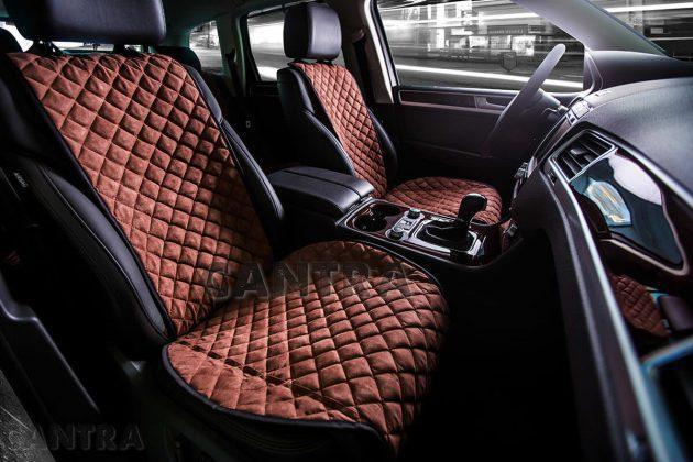 Накидки/чехлы на сиденья из эко-замши Ауди Ку7 (Audi Q7)