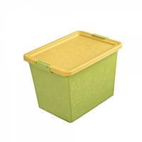 Branq Ящик для хранения с крышкой Жасмин 22л зеленый 7122-3