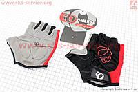 Перчатки без пальцев для велоспорта, XL-черно-красные, с мягкими вставками под ладонь
