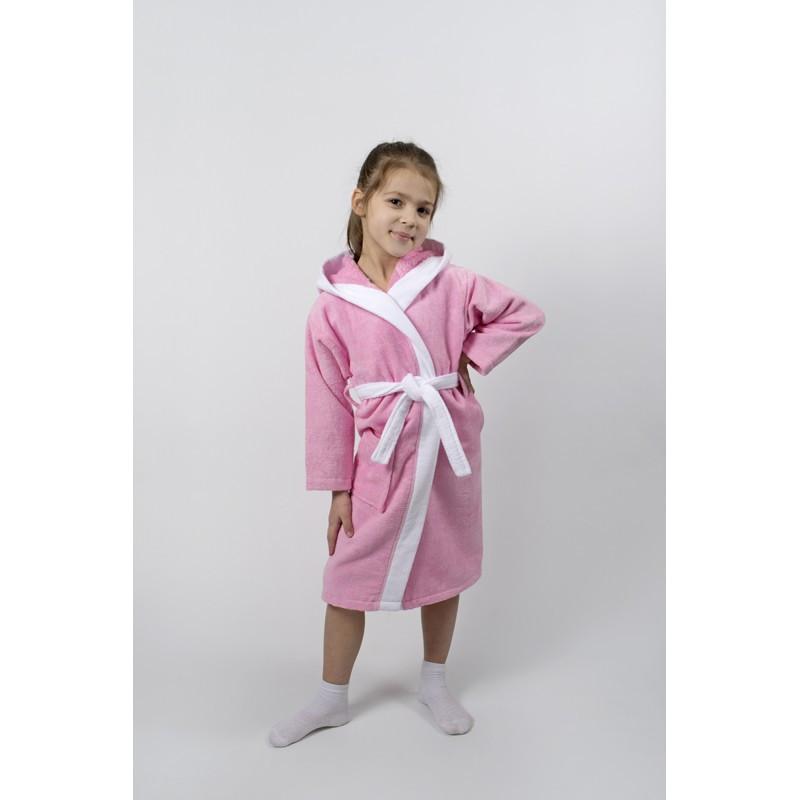 Халат детский Lotus - Зайка новый 7-8 лет розовый