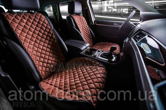 Накидки/чехлы на сиденья из эко-замши Мицубиси Паджеро Спорт Новый (Mitsubishi Pajero Sport New)