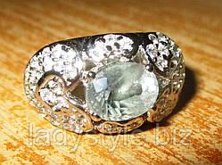 """Элегантный перстень с александритом и сапфирами """"Красивый"""", размер 17.5"""