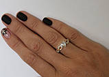 Серебряное кольцо с сердцем, фото 4