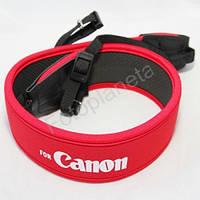 Ремень нашейный для Canon красный