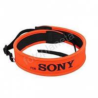 Ремень нашейный плечевой для фотоаппаратов Sony с неопрена оранжевый