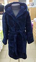 Детский махровый халат Velsoft Zeron тёмно-синий