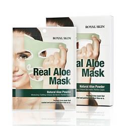 Маска для лица с алоэ ROYAL SKIN REAL ALOE MASK 5шт (Срок годности до: 04.07.2021)