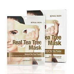 Маска для лица с чайным деревом ROYAL SKIN REAL TEA TREE MASK 5шт (Срок годности: до 04.07.2021)