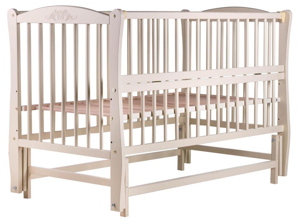 Ліжко Babyroom Еліт різьблення, маятник, відкидний пліч-DER-6 бук слонова кістка