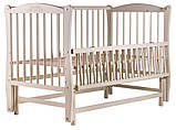 Ліжко Babyroom Еліт різьблення, маятник, відкидний пліч-DER-6 бук слонова кістка, фото 3