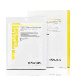 Био-целлюлозная осветляющая маска для лица ROYAL SKIN Prime Edition Brightening Bio Cellulose Mask 5шт (Срок