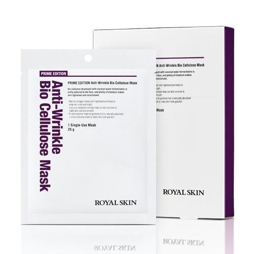 Біо-целюлозна омолоджуюча маска для обличчя ROYAL SKIN Prime Edition Anti-wrinkle Bio Cellulose Mask 1шт