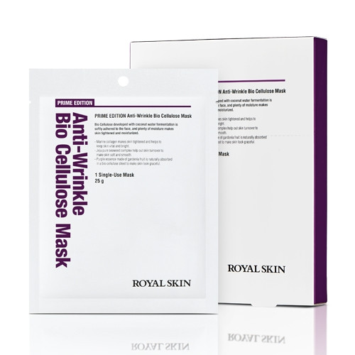 Био-целлюлозная омолаживающая маска для лица ROYAL SKIN Prime Edition Anti-wrinkle Bio Cellulose Mask 5шт