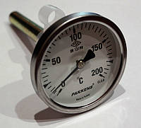 Термометр с гильзой 10см, 200С Pakkens