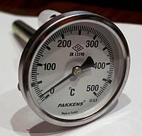 Термометр с гильзой 10см, 500С Pakkens