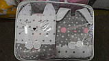 Комплект постельного белья с бортиками, одеялом и подушкой  в кроватку Зверушки в расцветках, фото 3