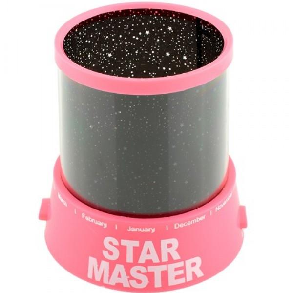 Проектор звездного неба Star Master с USB-кабелем и адаптером Pink