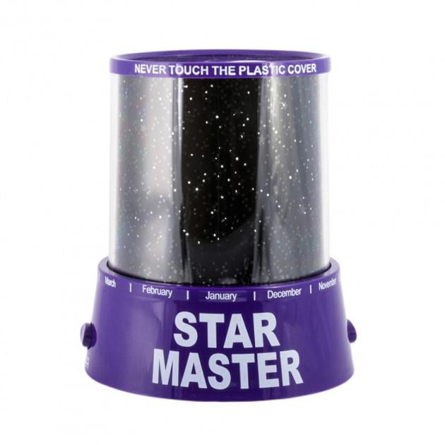 Проектор звездного неба Star Master с USB-кабелем и адаптером Purple