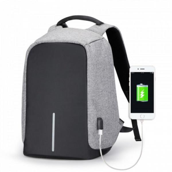 Рюкзак антивор Bobby с USB Grey | Оригинал