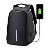 Рюкзак антивор Bobby с USB | Оригинал черный, фото 3
