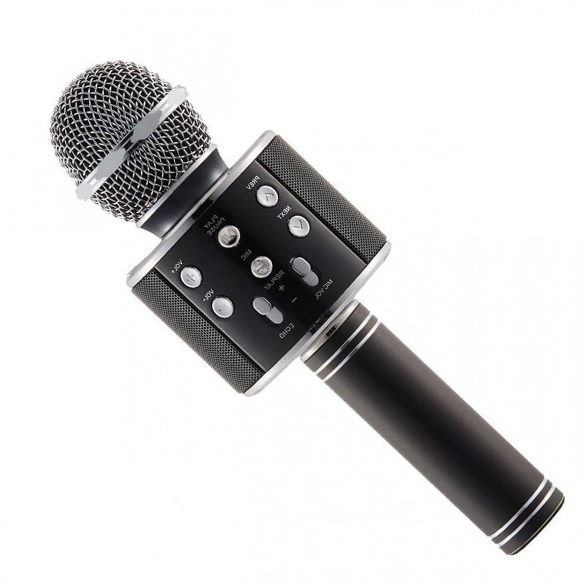 Беспроводной микрофон для караоке Wster WS858 Black |
