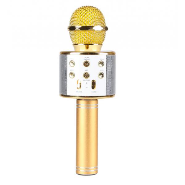 Беспроводной микрофон для караоке Wster WS858 Gold |