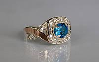 Серебряное кольцо с золотыми пластинами, фото 1