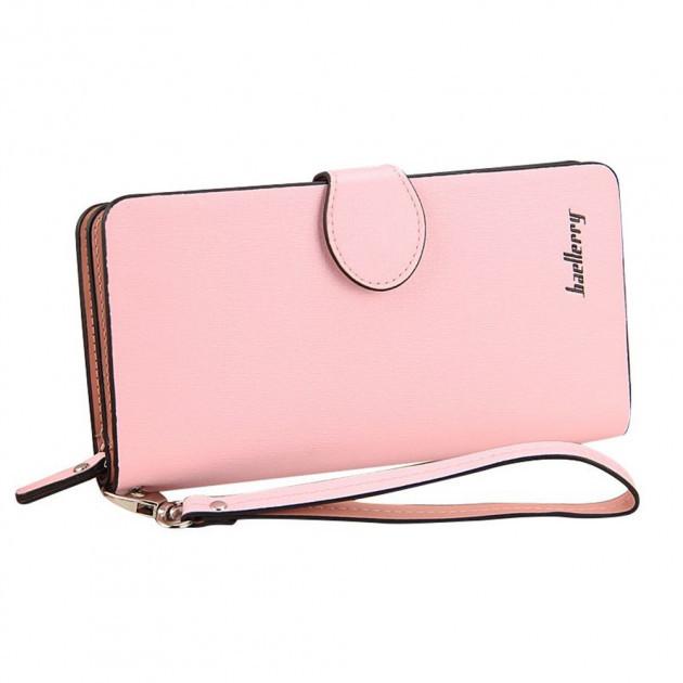 Женский клатч-кошелек Baellerry 13845 Розовый | Оригинал