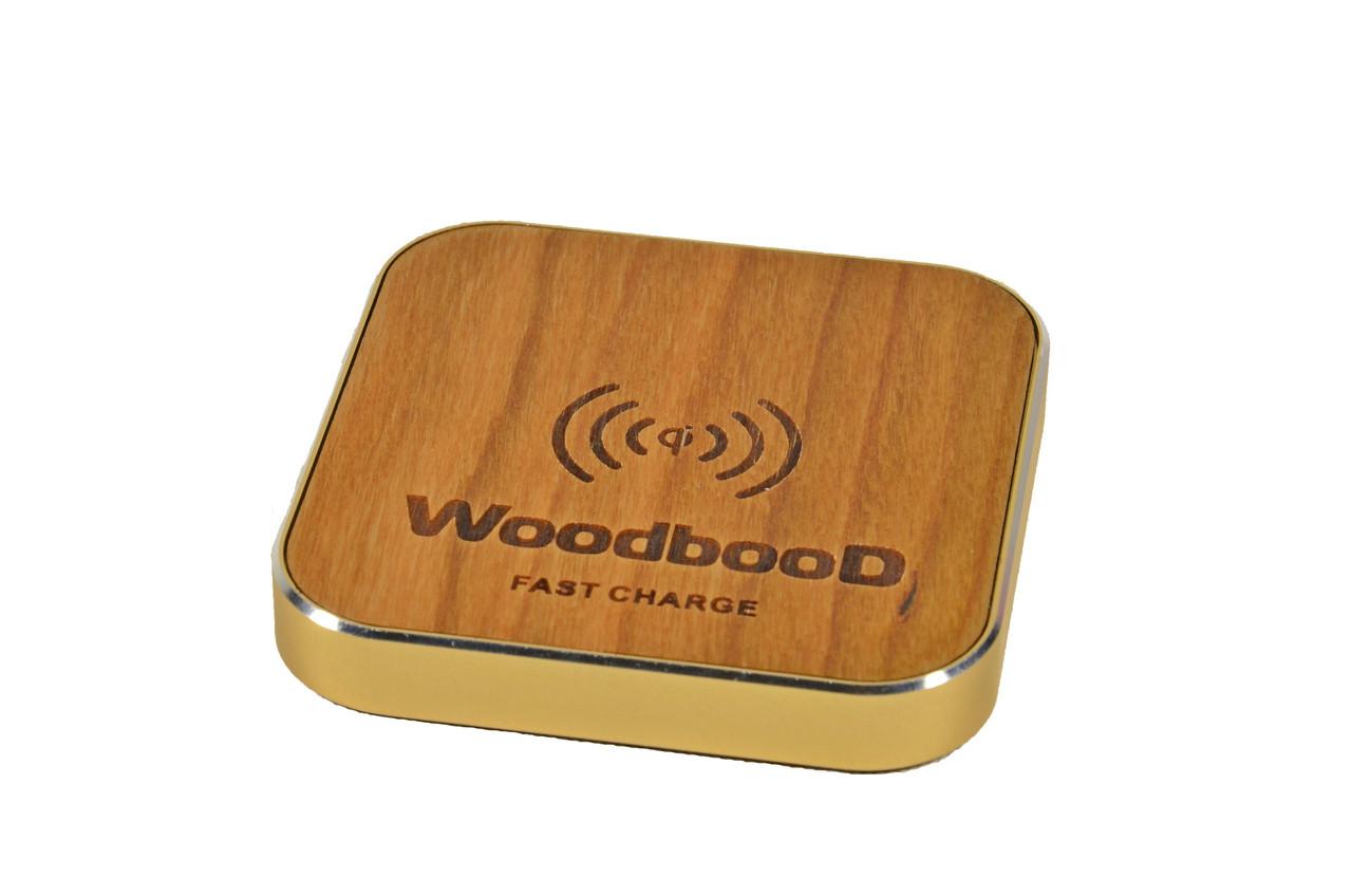 Беспроводная зарядка WoodbooD Wireless Charge Standart Gold   Оригинал