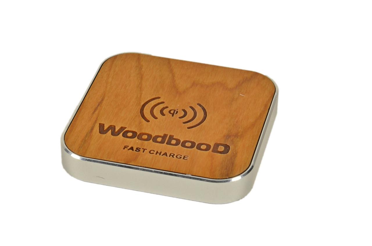 Беспроводная зарядка WoodbooD Wireless Charge Standart Silver | Оригинал