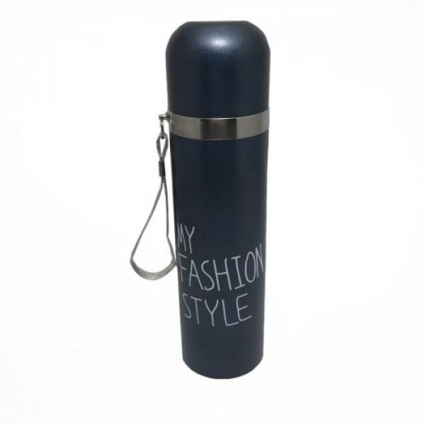 Стальной термос My Fashion style 480 мл Blue | Оригинал