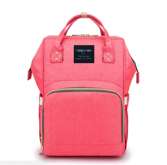Сумка-рюкзак для мам Baby Mo Розовая | Оригинал