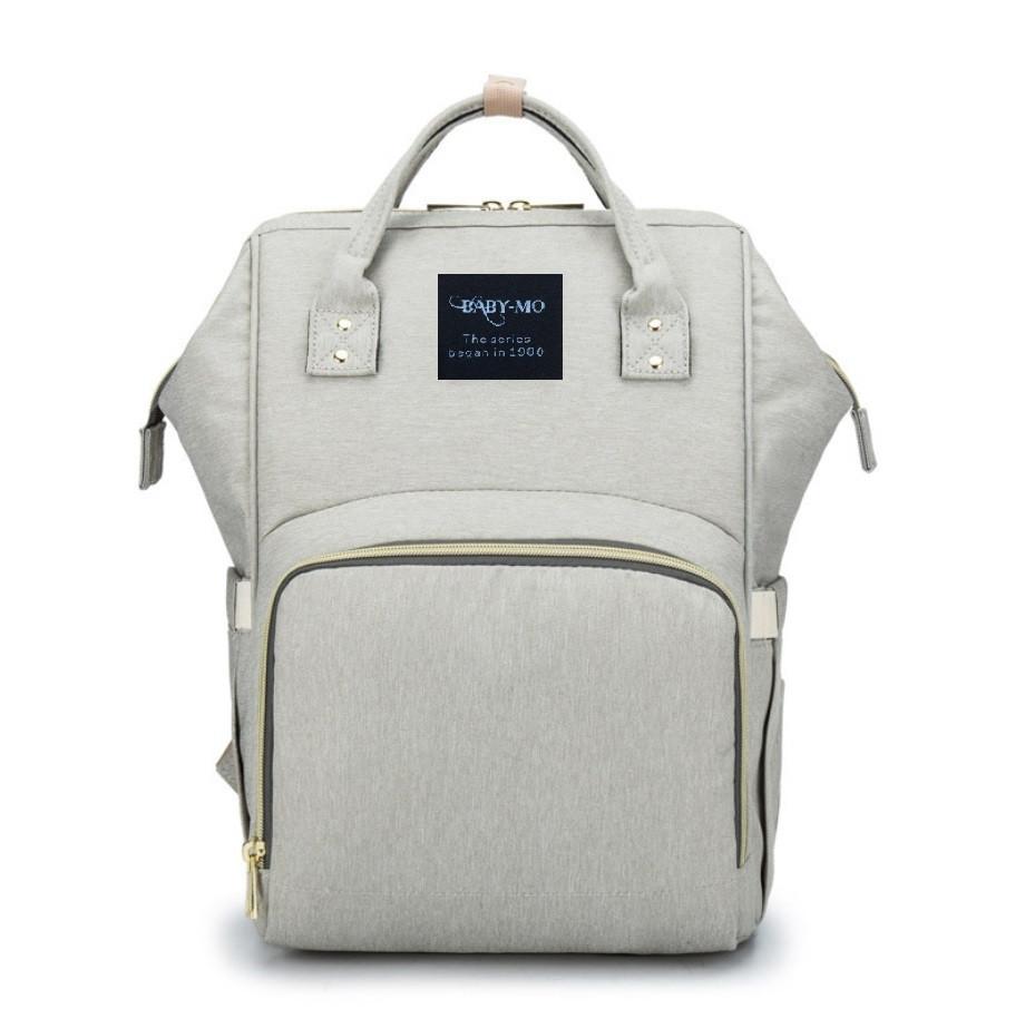 Сумка-рюкзак для мам Baby Mo Серая | Оригинал