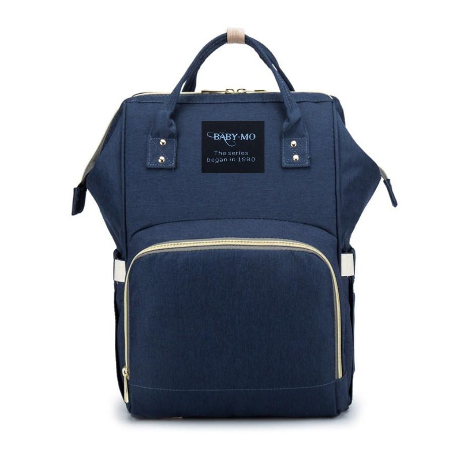 Сумка-рюкзак для мам Baby Mo Синяя | Оригинал